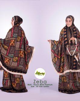 Mukenah ZEBA rayon potongan motif